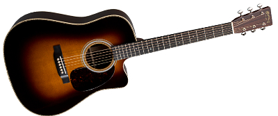 Martin HDC-28E Sunburst with Fishman Aura VT Enhance 2018