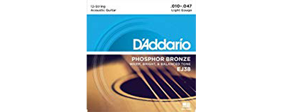 D'Addario EJ38 Light Strings