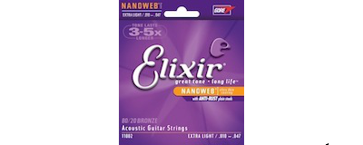 Elixir 11002 Nanoweb Extra Light Strings