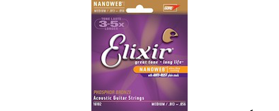 Elixir 16102 Phosphor Bronze Medium Strings