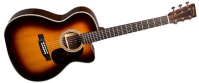 Martin OMC-28E Sunburst with Fishman Aura VT Enhance