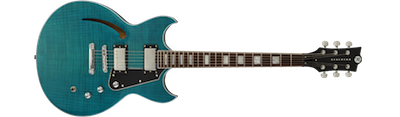 Reverend Manta Ray HB - Turquoise Flame Maple