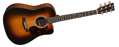 Martin DC-18E Sunburst with Fishman Aura VT Enhance
