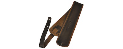 Martin Premium Rolled Black Leather Guitar Strap