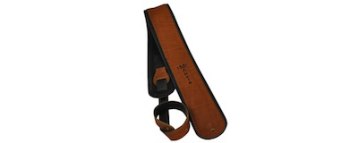Martin Premium Rolled Brown Leather Guitar Strap