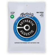 Martin MA170 Authentic Acoustic Strings - SP 80 20 Bronze Extra Light 3pk