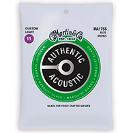 Martin MA175S Authentic Acoustic Strings - Marquis Silked 80/20 Bronze Custom Light