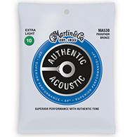 Martin MA530 Authentic Acoustic Strings - SP Phosphor Bronze Extra Light