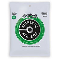Martin MA530S Authentic Acoustic Strings - Marquis Silked Phosphor Bronze Extra Light