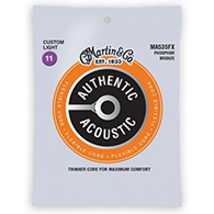 Martin MA535FX Authentic Acoustic Strings - Flexible Core Phosphor Bronze Custom Light