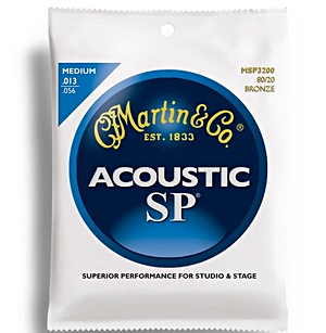 Martin MSP3200 SP 8020 Bronze Medium Acoustic Strings