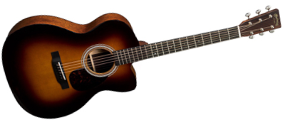 Martin OMC-18E Sunburst with Fishman Aura VT Enhance
