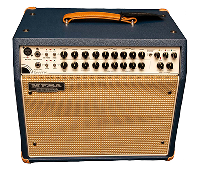 Mesa Boogie Rosette 300 Watt 1x10 Acoustic Combo Amp - Blue Bronco with Cream-Tan Jute Grille