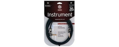 Planet Waves 20' Circuit Breaker Instrument Cable with Right Angle