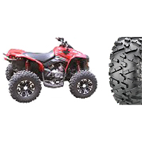 """25"""" Maxxis Bighorn 2.0 tires with SS312 wheels on a 2009 Can-Am Renegade 800R"""