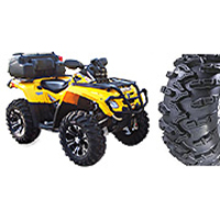 """GBC Grim Reaper Kit, pictured 27"""" tires with 14"""" SS312 wheels on a Can-Am 800."""