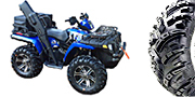 "27"" GBC Spartacus with 14"" SS212 Wheels on a Polaris Sportsman 500"