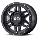 KMC XS128 Machete Black Wheel ATV Wheels
