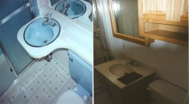 Swanstone bathrooms delaware basement remodeling contractor for Surell solid surface