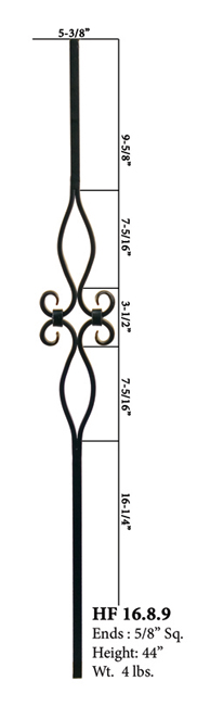 "Double Diamond 5/8""square Baluster"