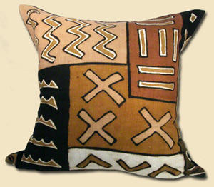 Large Balima Mudcloth Pillow with Insert