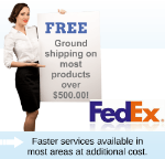 Free shipping on most products