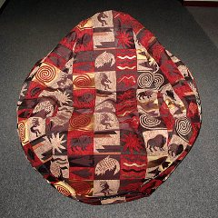 Custom chenille bean bag chair - aztec