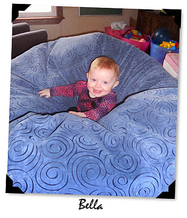 Blue Microfiber Bean Bag