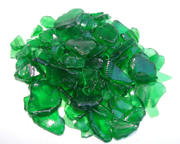 Dark Spring Green tumbled glass, illuminate with LED lights