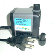 Fountain Pro WA-125 Pump | Small Submersible Fountain Pump