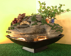 Lighted Bonsai waterfall Lucky Ivy Tree