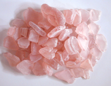 pink salmon color sea glass, light pink tumbled glass
