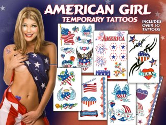 American Girl Sexy Temporary Tattoos
