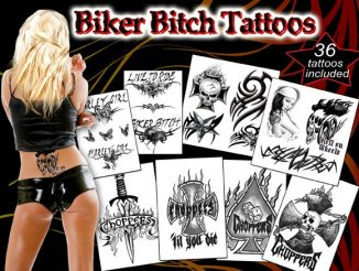 Biker Bitch Temporary Tattoos