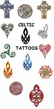 Celtic and abstract temporary tattoos