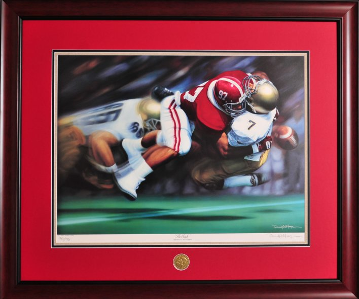 Alabama And Auburn Framed Prints The Sack By Daniel